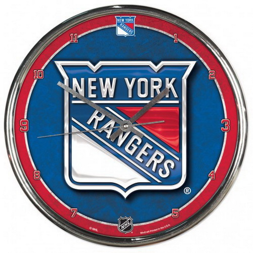 Wincraft New York Rangers Round Chrome Wall Clock