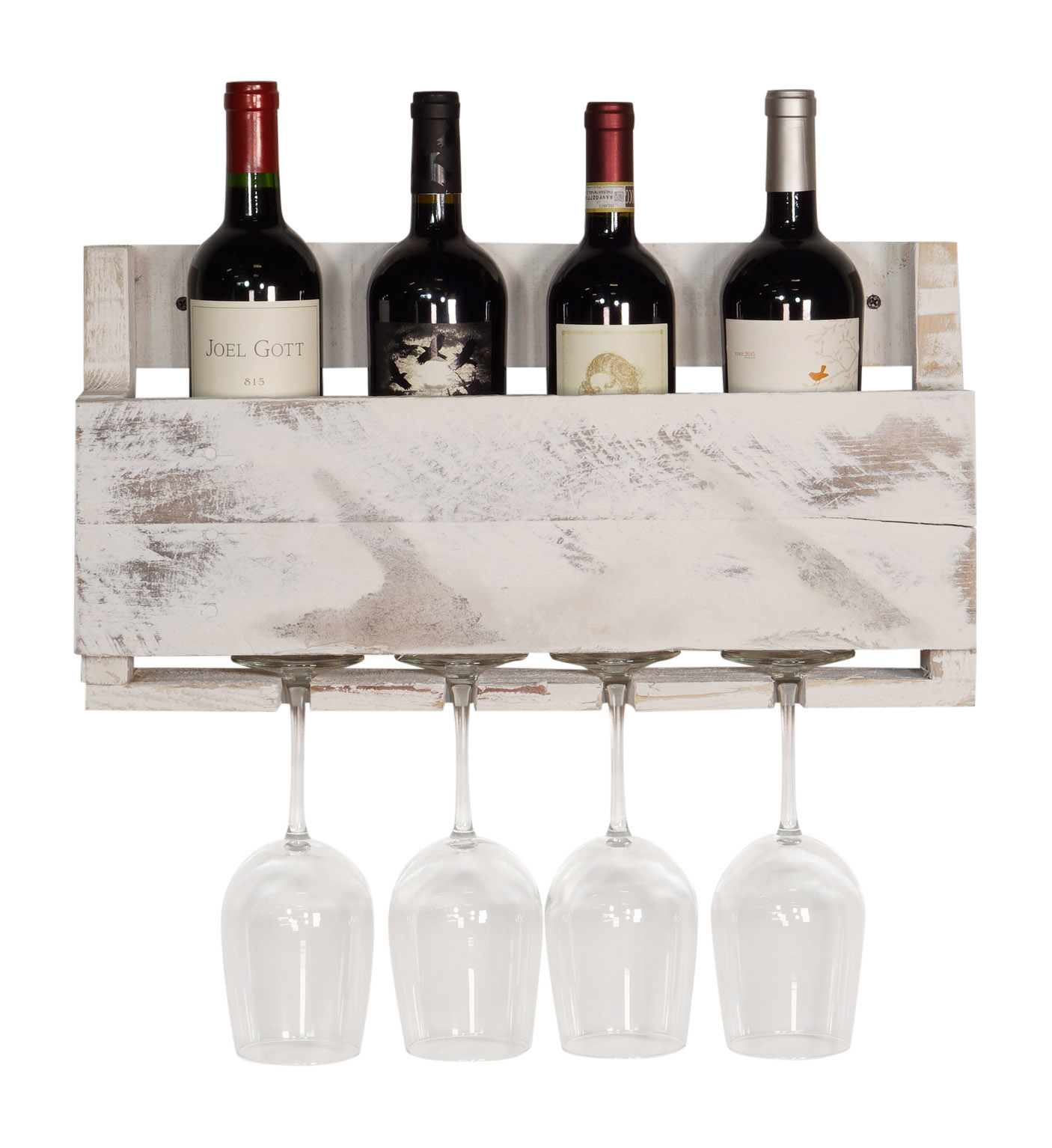 Del Hutson Designs Little Elm Pallet Wine Rack, Walnut