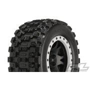 Proline 1013113 Badlands MX43 Pro-Loc All Terrain Tires on Impulse Pro-Loc Black Wheels (2) X-MAXX