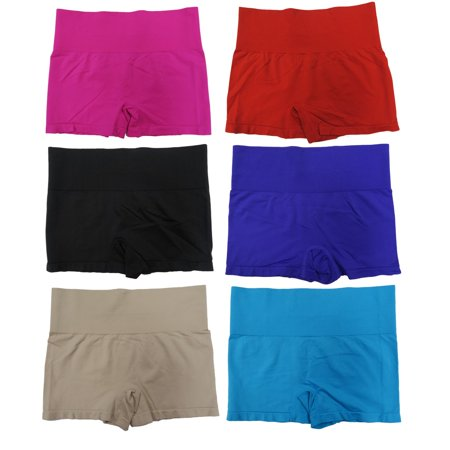 Women's Seamless Athletic Shapewear Shorty (6 Pack)