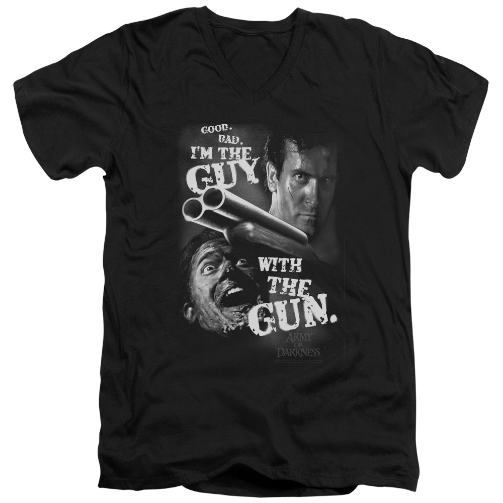 Mgm Army Of Darkness Guy With The Gun Mens V-Neck Shirt