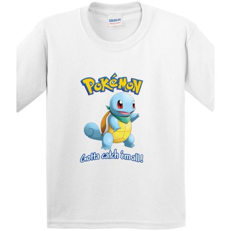 Squirtle Shell (New Way 561 - Youth T-Shirt Pokemon Go Gotta Catch 'Em All)