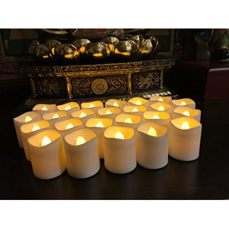 Fake Tea (Flameless LED Tea Light Candles, Magicpro Battery-powered Unscented LED Tealight Candles, Fake Candles, Tealights, 24)