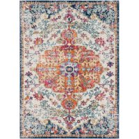 Surya HAP1000-1014 10 ft. x 14 ft. Harput Rectangle Machine Made Updated Traditional Area Rug, Multi Color