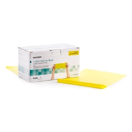 McKesson CanDo Exercise Band - Yellow 6 Yard X-Light Resistance - 1 Each / Each - -