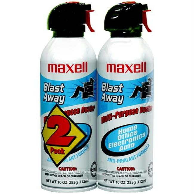 Maxell 190026 - Ca4 Blast Away Canned Air - 2 Pk