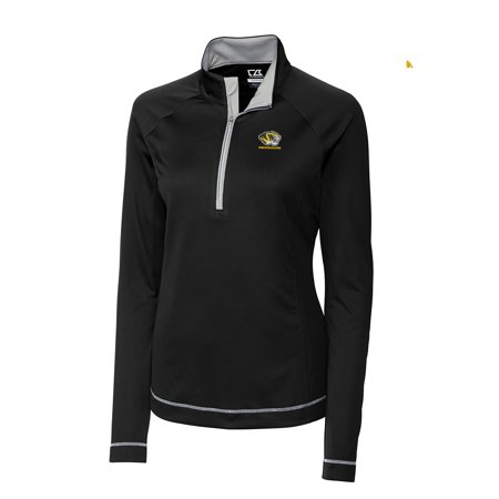 Missouri Tigers Cutter & Buck Women's Evolve Half-Zip Jacket - Black
