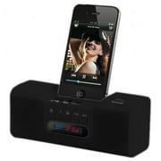 Bluetooth Docking Speaker with Radio and Clock-BLACK