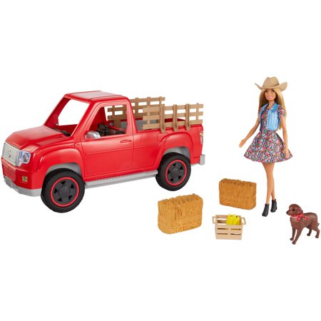 Barbie Estate Sweet Orchard Farm Doll & Pickup Truck with Accessories