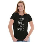 Inspirational Womens Tees Shirts Ladies Tshirts You Make Me Happy Funny Gift