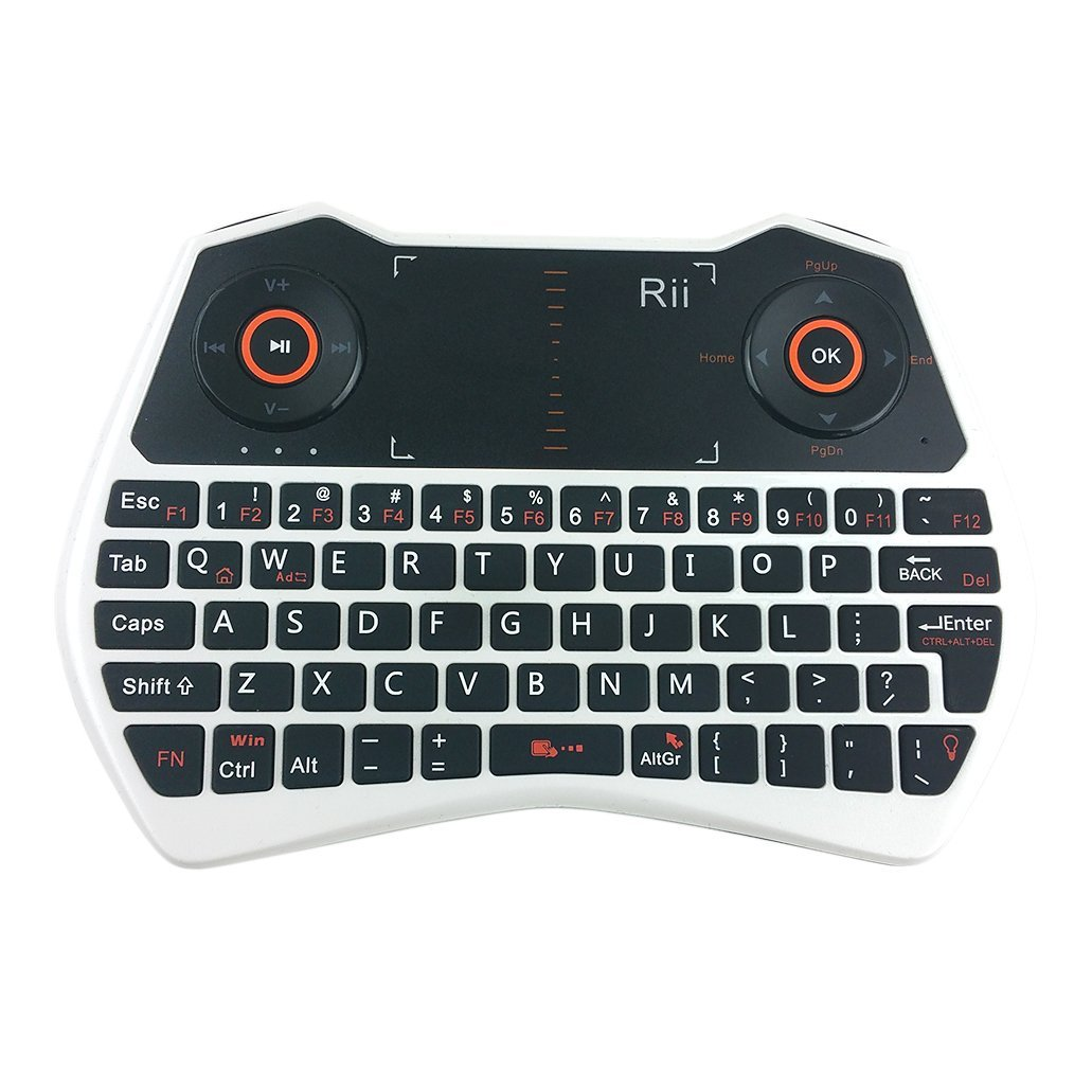 Rii mini i28 2.4 GHz Wireless Remote Mouse Voice Keyboard for Laptop, PC, Smart TV