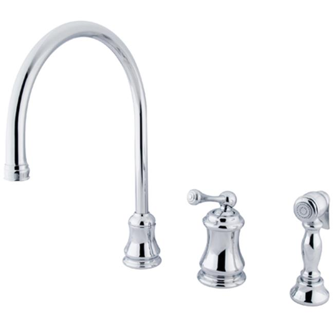 Kingston Brass Ks3811blbs Single Handle Widespread Kitchen Faucet