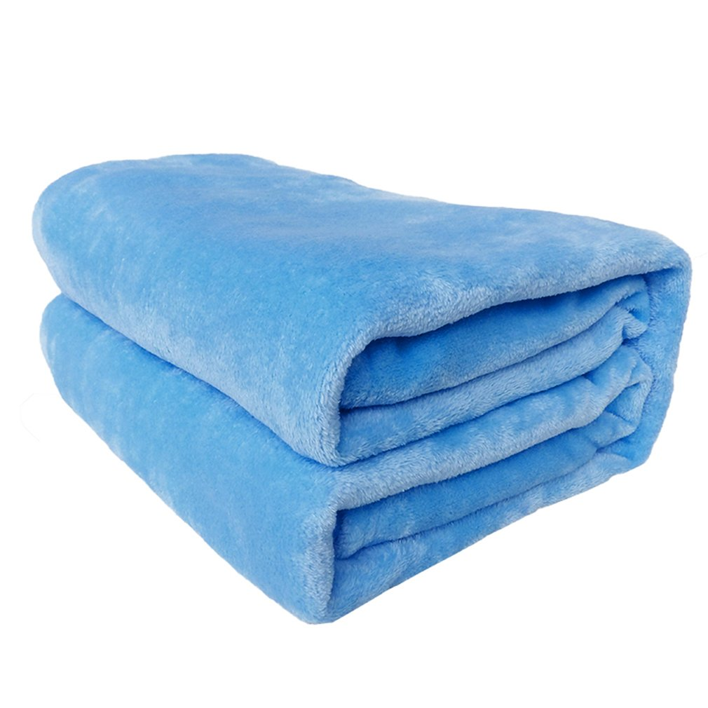 Summer Winter Solid Color Comfortable Soft Airplane Sofa Bedding Flannel Keep Warm Outdoor Travel Home Textile Blanket