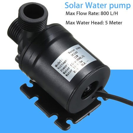 24v Pump - Black DC 24V 800 L/H Hot Water Circulation Pump Solar Water Pump Brushless brushless water pump Motor 5m Lift