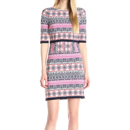 2fd095dc Eliza J Dresses - Eliza J Women's Geo Print Popover Sheath Dress ...
