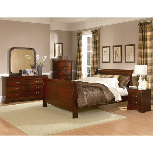 Woodhaven Hill Chateau Brown Sleigh Customizable Bedroom Set