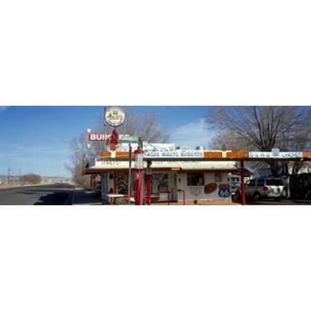 Restaurant on the roadside Route 66 Arizona USA Poster Print
