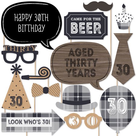 Themes For 30th Birthday (30th Milestone Birthday - Photo Booth Props Kit - 20)