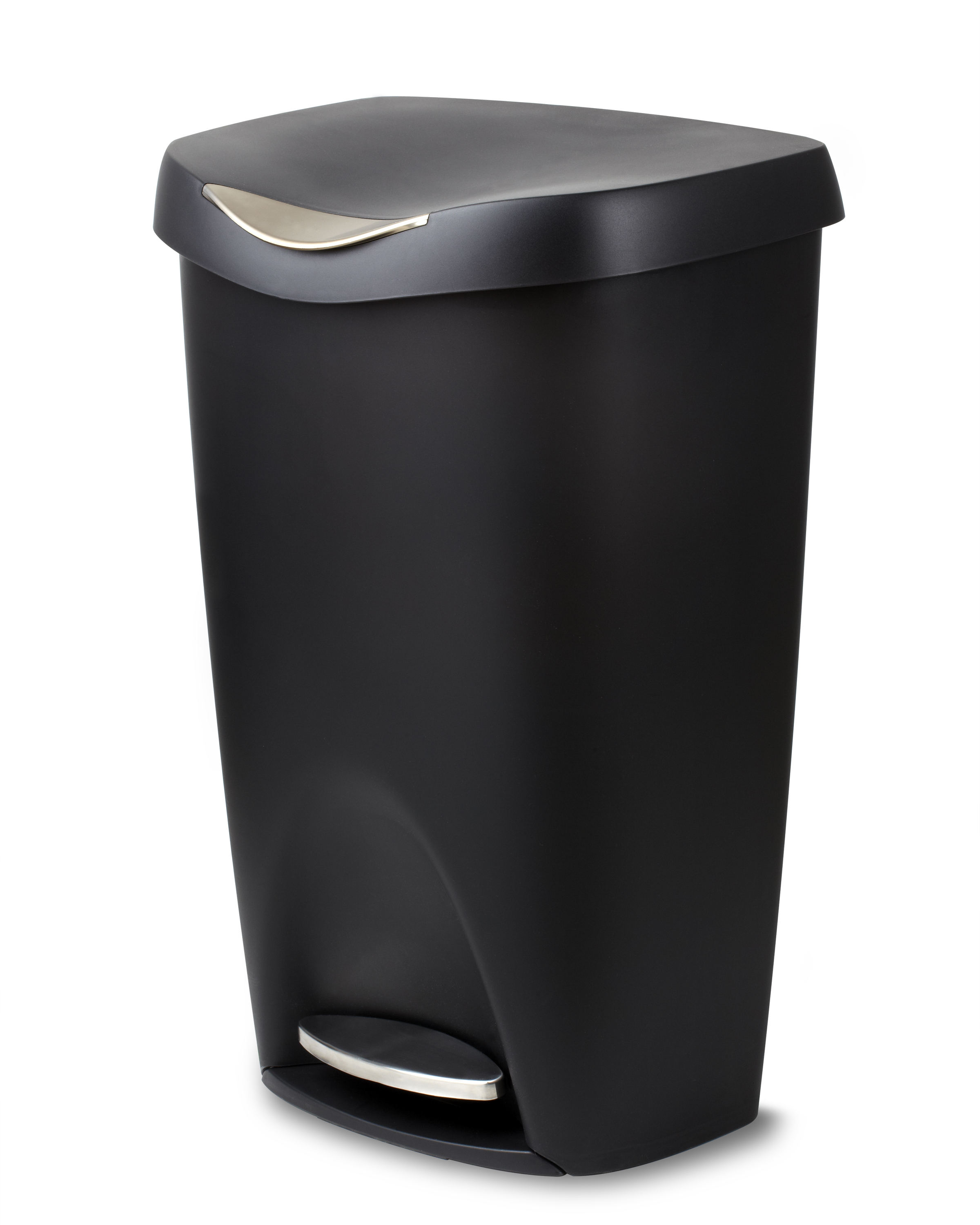 stainless steel kitchen trash can. Umbra Brim Large Kitchen Trash Can With Stainless Steel Foot Pedal \u2013 Stylish And Durable 13 H