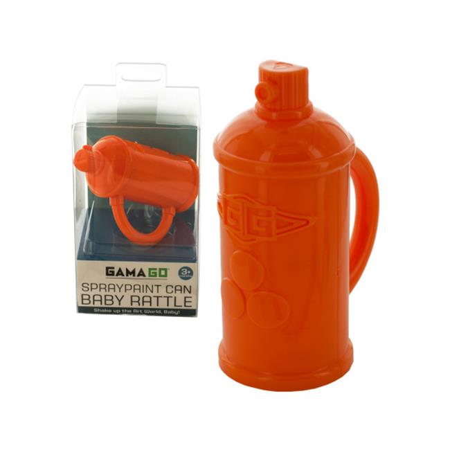 Bulk Buys BI789-48 Spraypaint Can Baby Rattle by Bulk Buys