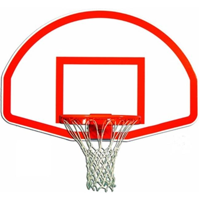 Trigon Sports BB ftB Fan-Shape Aluminum Backboard with Target & Border