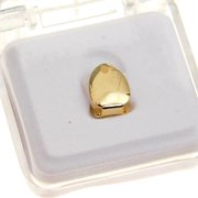 14k Gold Plated Single Cap Grillz One K9 Tooth Plain Grill Top Canine Teeth Hip Hop Grills