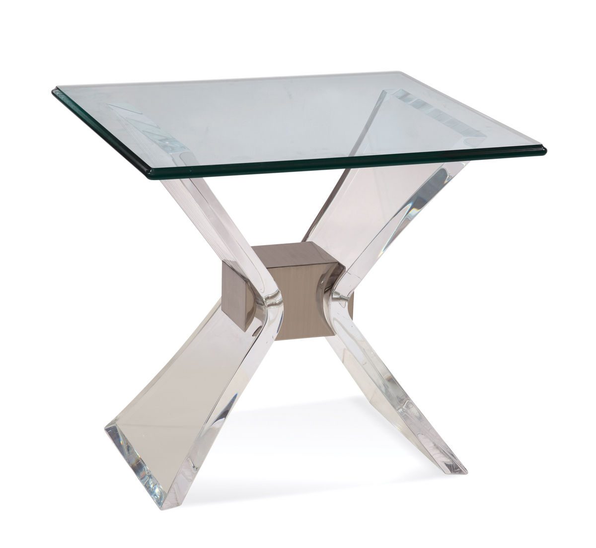 Bassett Hollywood Glam Silven Rectangle End Table by