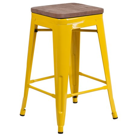 Backless Wood Stool (Flash Furniture 24