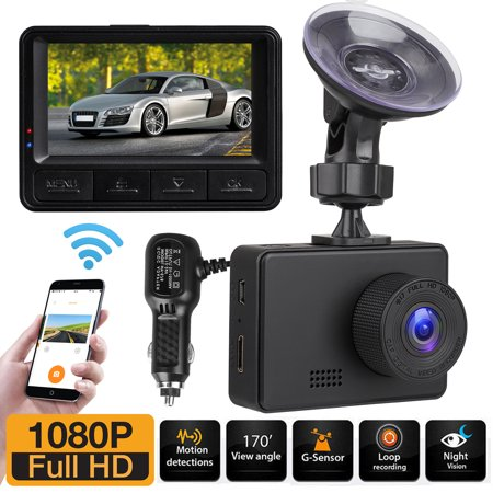 Mini Car Camera Mini WiFi Camera 1080P Full HD Dash Camera with Night Vision, Wi-Fi, Wide-Angle View, G-Sensor, WDR, Loop Recording-EEEkit (Baseball Cap Spy Camera)