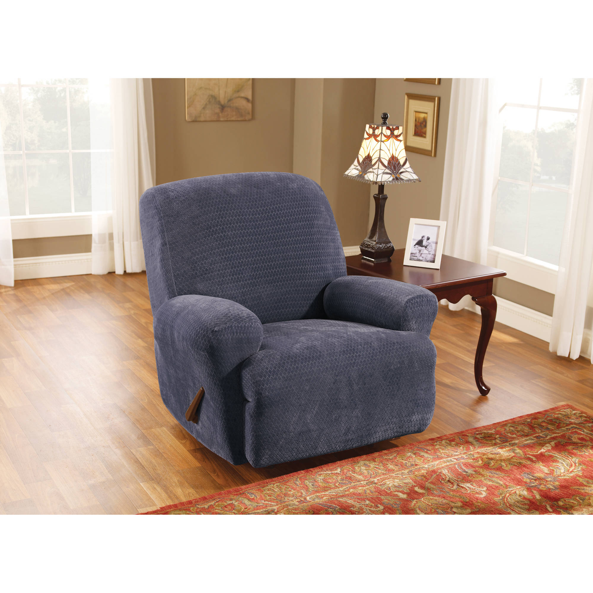 Sure Fit Stretch Royal Diamond 1-Piece Recliner