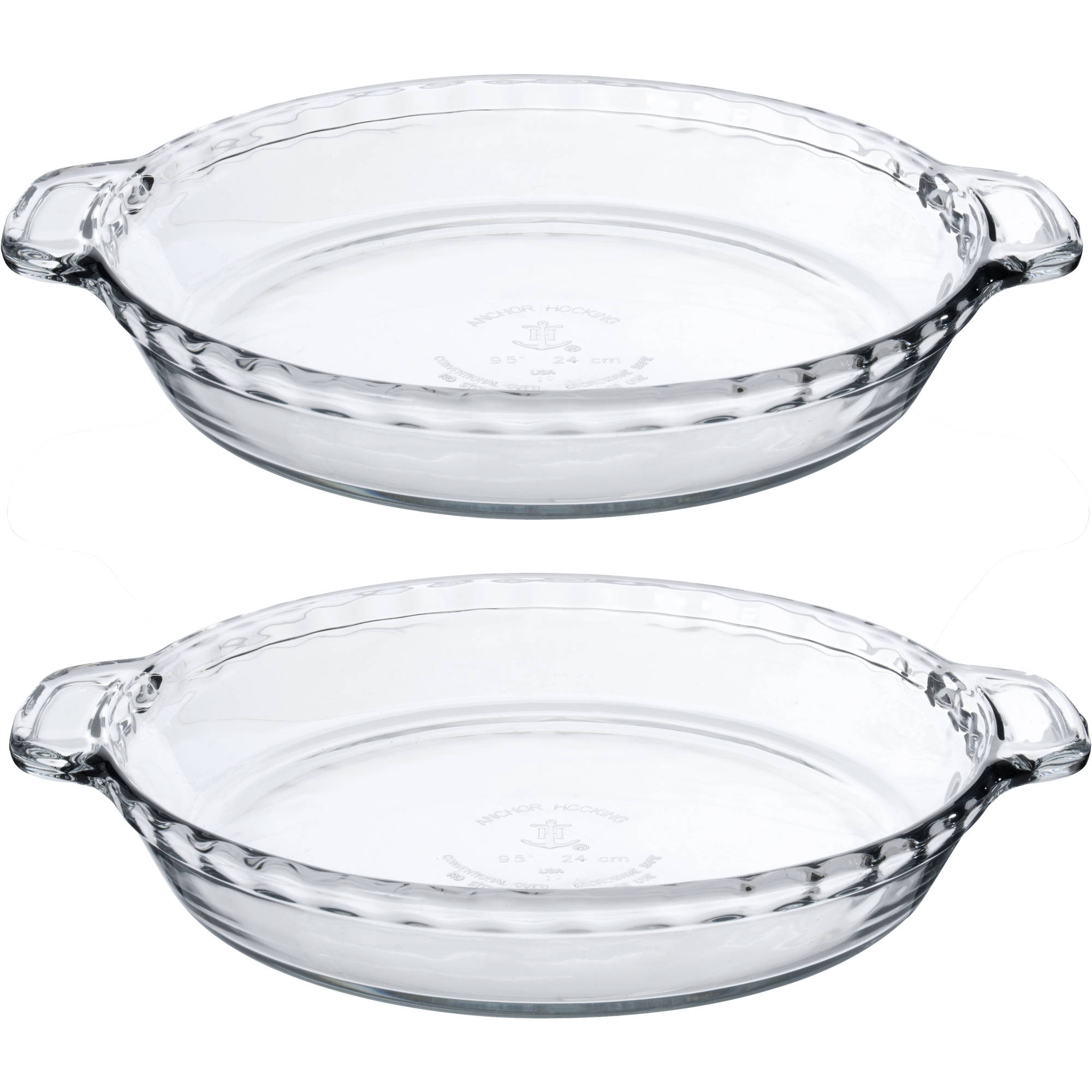 "Anchor Hocking 9.5"" Deep Pie Plate, 2-Pack"