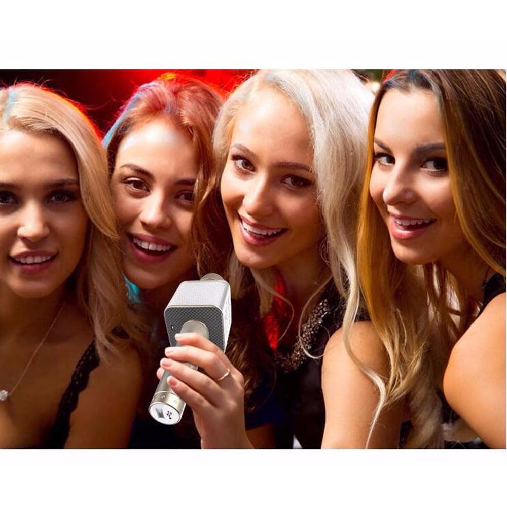 oobest KTV-Q9 Wireless Bluetooth Handheld KTV Karaoke Microphone Mic Speaker For SmartPhone Multi-Colors Black/Gold/Rose gold