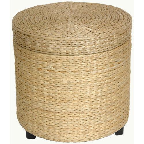 Oriental Furniture Rush Grass Storage Ottoman
