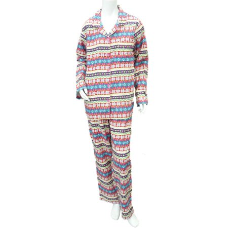 Joe Boxer Womens Flannel Penguin Pajama Pink Heart Sleep Set Snowflake PJs S (Womens Joe Boxer)