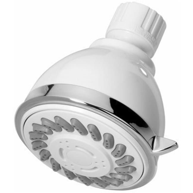 Home Pointe Fixed Shower Head, White
