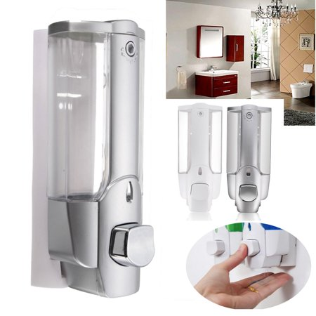 - Wall Mount Soap Sanitizer Bathroom Shampoo Dispenser Washroom Lotion Pump