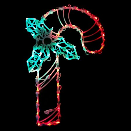 Candy Cane Props (Northlight 18 in. LED Lighted Candy Cane Window Silhouette)