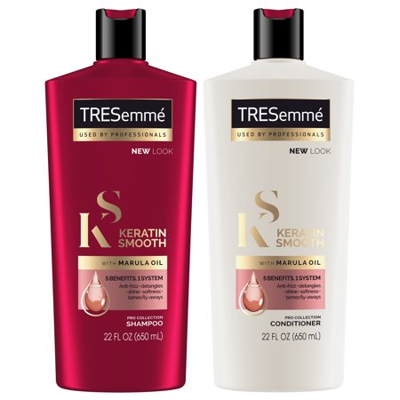 TRESemmé Keratin Smooth Shampoo and Conditioner 22 oz, Twin (Best Shampoo And Conditioner After Keratin Treatment)