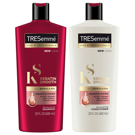 TRESemmé Keratin Smooth Shampoo and Conditioner 22 oz, Twin