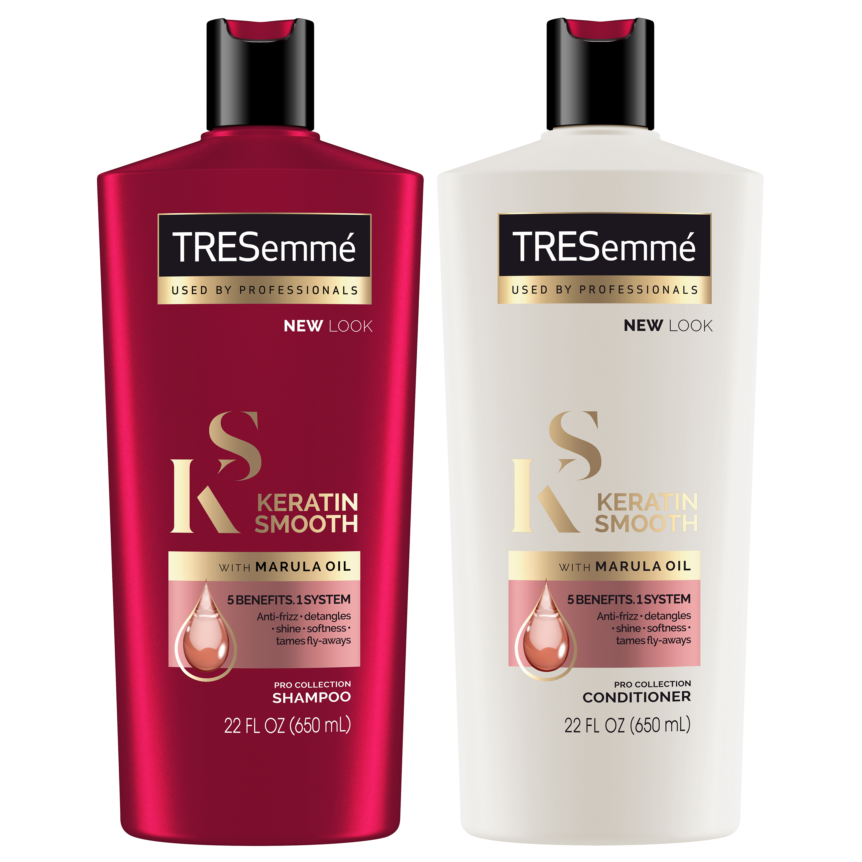 TRESemmé Keratin Smooth Shampoo and Conditioner 22 oz, Twin Pack