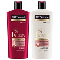 TRESemm Keratin Smooth Shampoo and Conditioner 22 oz, Twin Pack