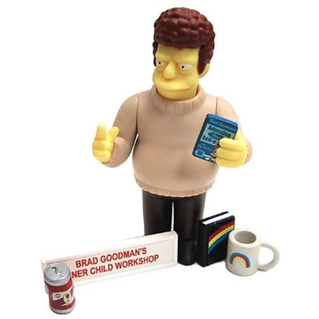 Simpsons All Star Voices 2 Brad Goodman Action Figure by, BRAD GOODMAN The Simpsons All-Star Voices * ALBERT BROOKS * Series 2 World Of Springfield Interactive.., By The Simpsons ()