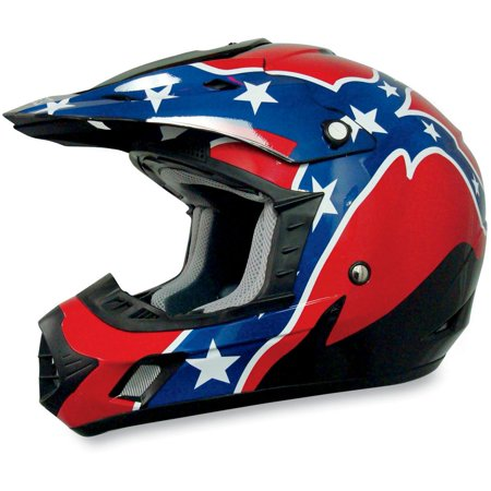 AFX FX-17 Helmet Rebel Black Md  (Afx Helmet Chin Vent)