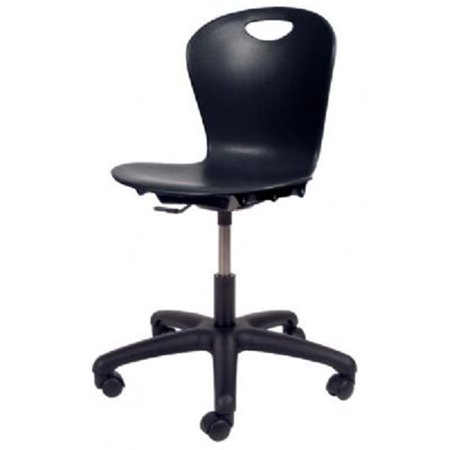 Virco ZTASK15-BLK01 14-17 in. Black Task Chair