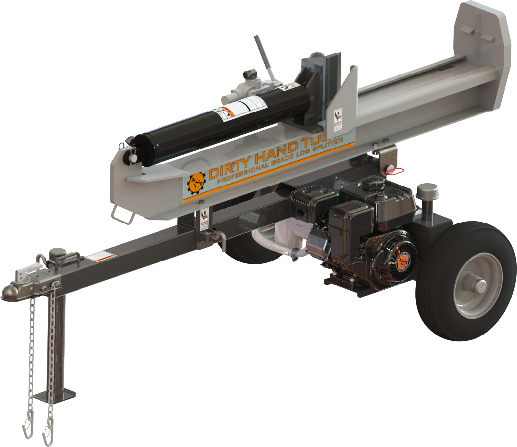 Dirty Hand Tools 22 Ton Full-Beam Horizontal Vertical Log Splitter, DHT Engine by Dirty Hand Tools