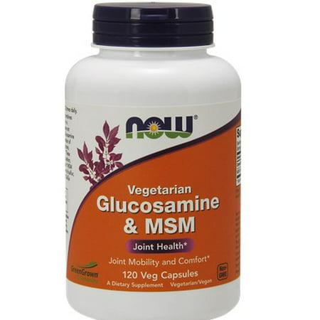 Glucosamine et MSM Végétarien NOW Foods 120 vcaps