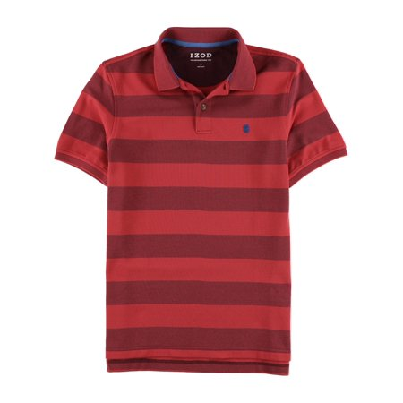 e451d6636234a2 IZOD Mens The Advantage Stripe Rugby Polo Shirt fig L - image 1 of 1 ...