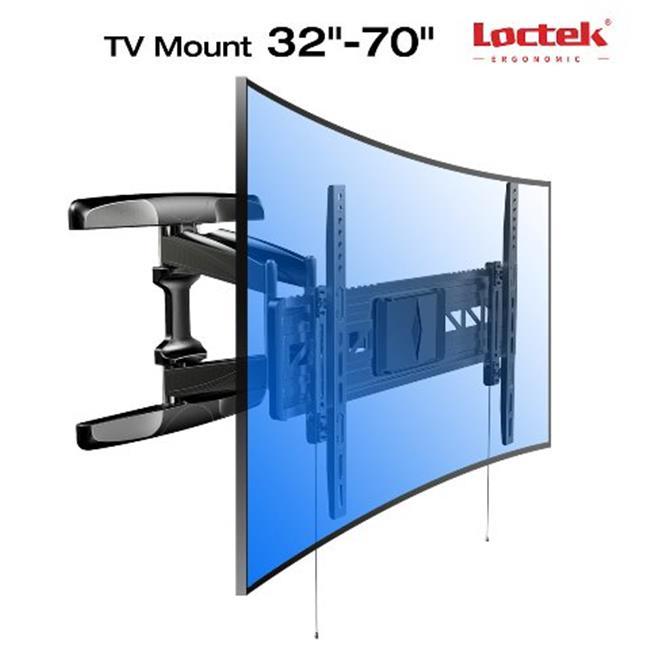 Loctek R2-DS023 Full Motion TV Bracket for Curved & Flat Screen TVs 32 - 70 in.