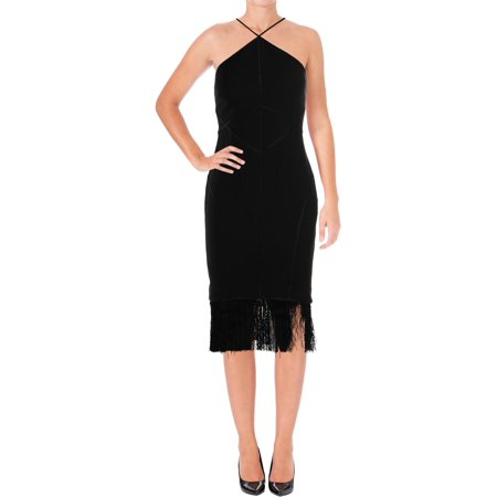 Cinq a Sept Womens Bryn Silk Fringe Party Dress