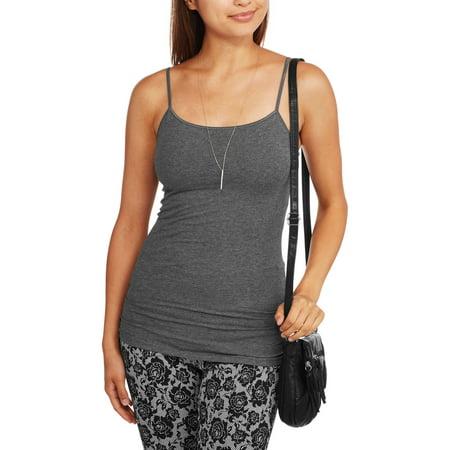 e9ed36024e No Boundaries - Juniors  Shelf Bra Cami with Adjustable Straps - Walmart.com